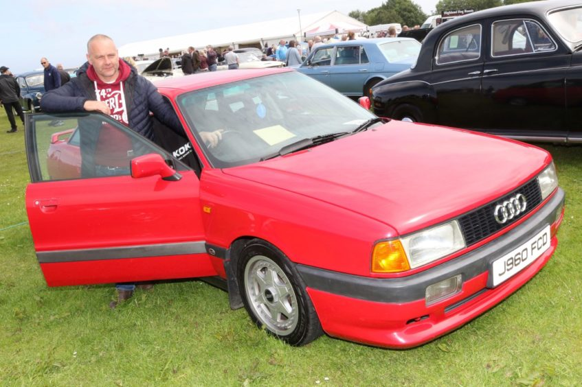 Ronnie Gow from Thrumster with his 1991 Audi 80 2-litre Sport.