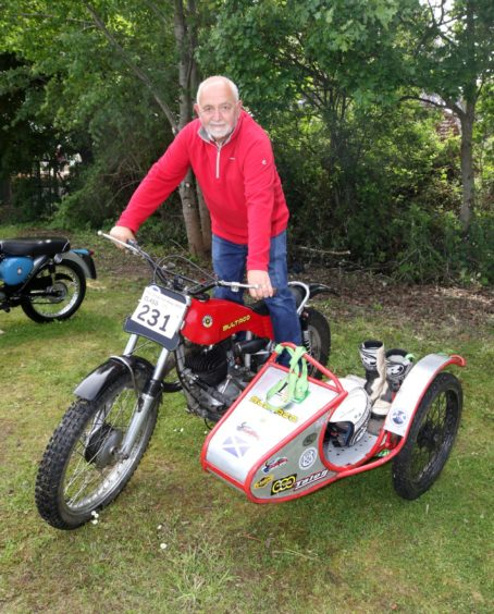 Sammy Robertson from Tain with his 1969 Bultaco 250 Trials Sidecar