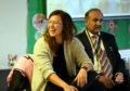 Scotland captain Rachel Corsie visits Ashley Road school last week.