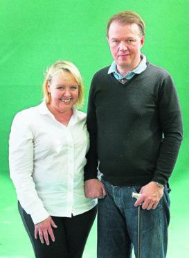 Edwyn Collins and Grace Maxwell attend the Edinburgh International Book Festival.