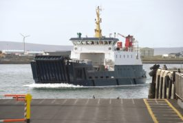 Orkney Ferries, 'Thorsvoe' arriving from the outer isles to Kirkwall.