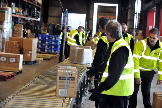 Parcel sorting warehouse in Inverness