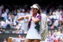 Johanna Konta of Great Britain walks off the court following defeat in her Ladies' Singles Quarter Final match against Barbora Strycova of Czech Republic during Day Eight of The Championships - Wimbledon 2019