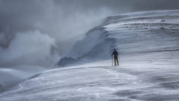 Winner Kevin Beck's image - Challenging conditions on Braeriach.