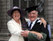 Bev Cochran with husband Hugh at the latter's graduation ceremony in 2008.            .