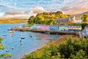 gems view on Portree before sunset, Isle of Skye, Scotland