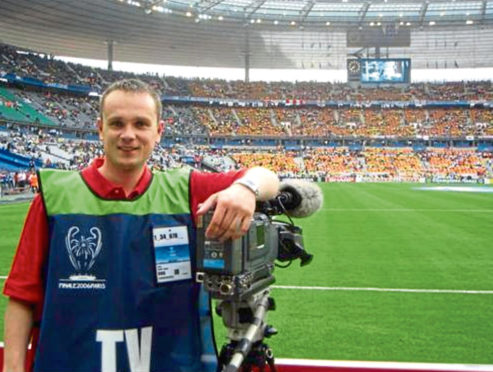 AVC Immedia general manager Keith Robertson at the 2006 UEFA Champions League final between Arsenal and Barcelona in Paris.