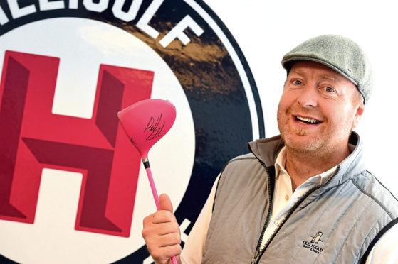 David Harris at Bonnie Wee Golf, Little Belmont Street, Aberdeen. Picture by Jim Irvine