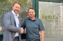 Marcus Jocham (left), head of business development at Dekra Visatec, and Brian Storie (right), managing director of Spectis Robotics.