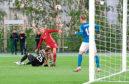 18/07/19 UEFA EUROPA LEAGUE QUALIFIER 1ST ROUND (2ND LEG) ROPS ROVANIEMI v ABERDEEN ROVANIEMEN KESKUSKENTTA - ROVAENIEMI Lewis Ferguson nets with the last kick of the game to earn Aberdeen a 2-1 victory.