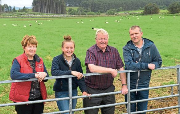 Judith, Hannah, Jim and Stuart Lorimer.
