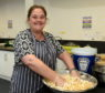 Kelly Donaldson taking part in cooking classes
