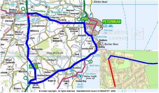 A main road will be closed in Mintlaw