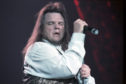 In full flow: Meat Loaf wows his fans in 1994