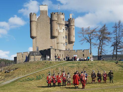 A re-enactment at the castle.