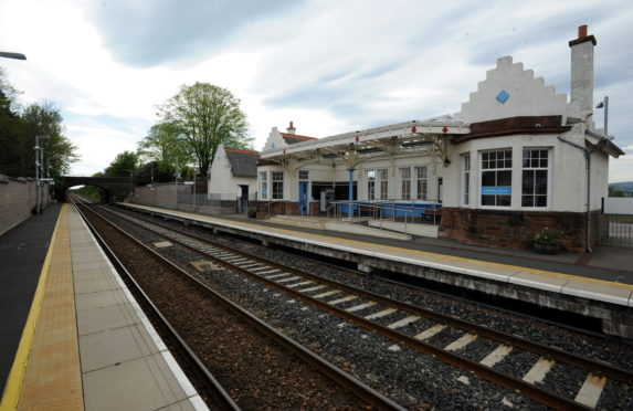 Pictured is Laurencekirk Train Station.