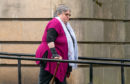 Carla Jayde Ross leaving Elgin Sheriff Court following her conviction.