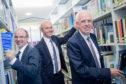 Chris Moule, Prof John Harper and Aberdeenshire Council leader Jim Gifford.