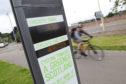 Cycle counter near Millburn Road.
