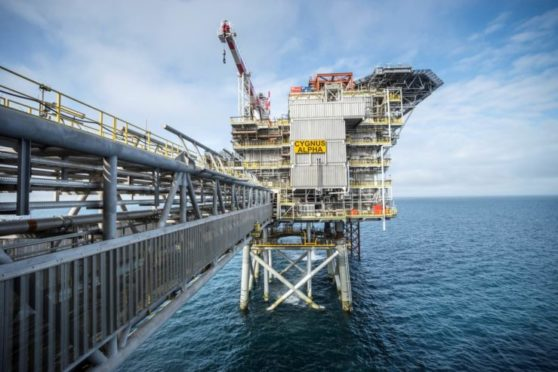 Centrica is seeking to sell off its 69% interest in Spirit Energy in order to reduce debt. Pictured is the Cygnus Alpha platform. Spirit owns 61% of the huge gas field.
