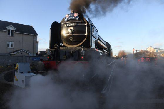 The Aberdonian steam train.