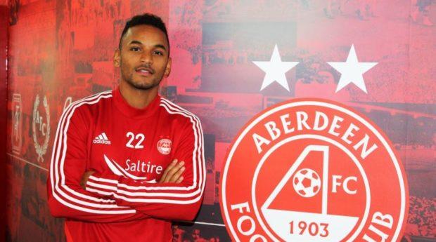 New Aberdeen midfielder Funso Ojo.