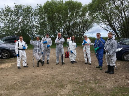 Group of volunteers at Spey Bay (c) Michelle Henley