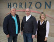 HIE Moray Accelerator Launch Horizon Forres  Craig Robertson Senior Area Business Manager Gateway Moray, Andy Campbell  Head of Accelerators Elevator, Carol Davidson HIE Moray Regional Development Manager   PIC  TREVOR MARTIN /HIE