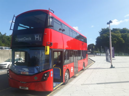 Hydrogen double decker bus