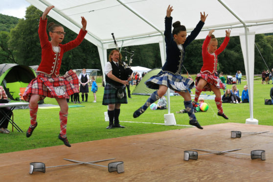Highland Dancers compete at the Glengarry Highland Games with a record entry.