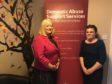 MSP Christina MacKelvie with Women's Aid manager Adele Newlands.