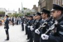 RAF Lossiemouth personnel paraded through the centre of Montrose.