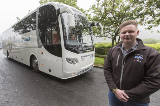 Wick man Aaron Wilson, who plans to start a new Caithness to Inverness bus service in September. Photo: Robert MacDonald/Northern Studios