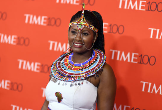 TOPSHOT - Nice Nailantei Leng'ete attends the TIME 100 Gala celebrating its annual list of the 100 Most Influential People In The World at Frederick P. Rose Hall, Jazz at Lincoln Center on April 24, 2018 in New York City. (Photo by ANGELA WEISS / AFP)        (Photo credit should read ANGELA WEISS/AFP/Getty Images)