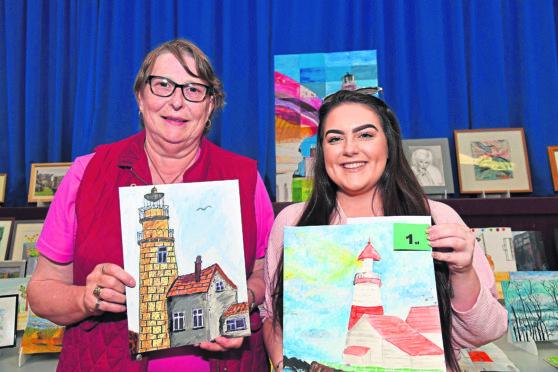 Ann O'Sullivan (L) and 13+ winner Kayleigh Bruce