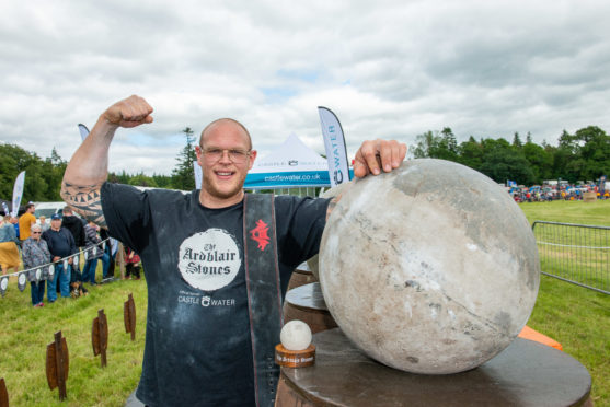 Paul Benton, from Fettercairn, is a world champion lifter.