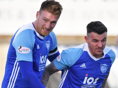 Rory McAllister and Derek Lyle were on the scoresheet for Peterhead.