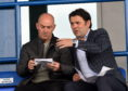 Cove Rangers boss Paul Hartley (right) and assistant Gordon Young.