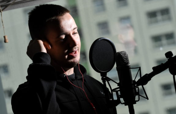 """Aberdeen rapper Jackill real name Jack Hughes, who's album will be released 26th July titled """"A Day with the Jackal"""""""