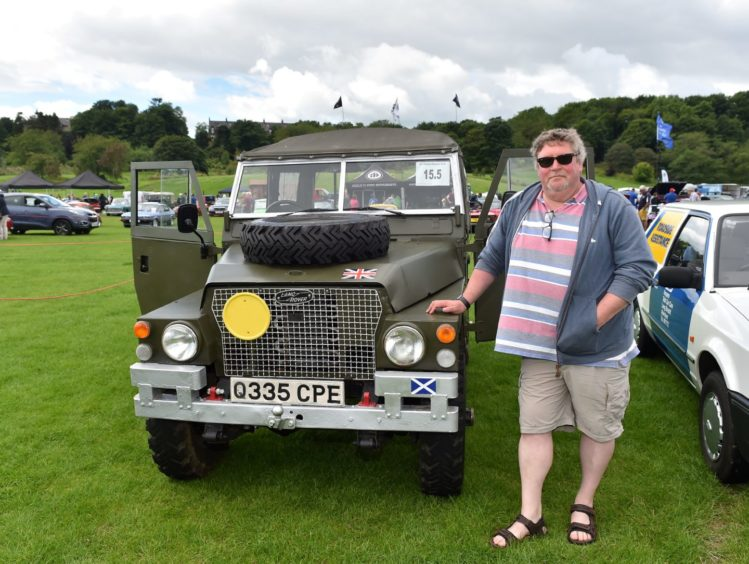 David Hemingway with his Land Rover, Lightweight.  Picture by Scott Baxter