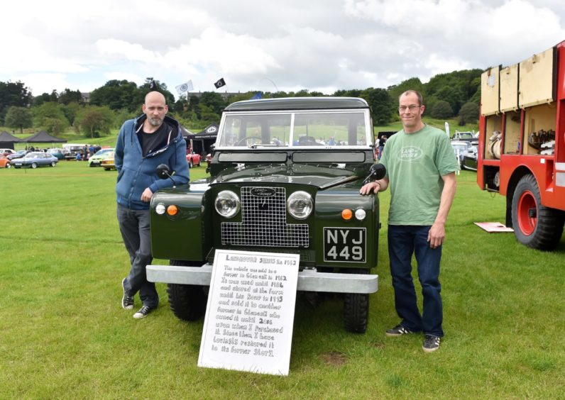 Brian Greig and Dave Meek with a 1962 Land Rover Series 2a  Picture by Scott Baxter
