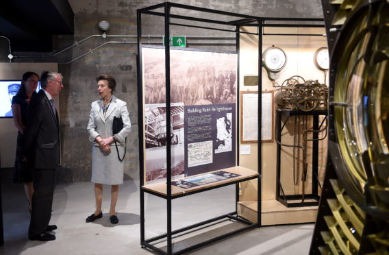 The Princess Royual tours the new Gairloch Museum before signing the visitors book and unveiling a plaque to open the facility.