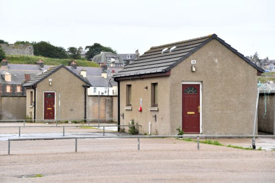 THE CHALETS WHICH ARE DUE FOR REFURBISHMENT AT GREENBANKS SITE IN BANFF.