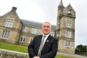 CLLR BRIAN TOPPING AT ST ANDREW'S PRIMARY IN FRASERBURGH.