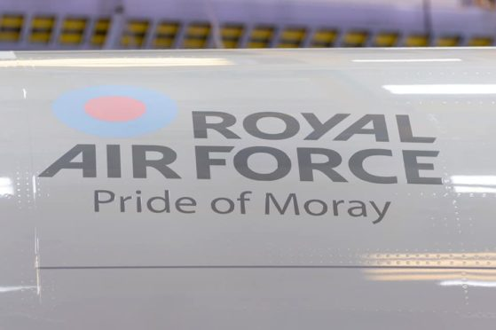 The first of the new Poseidon planes has been named.  CREDIT: RAF LOSSIEMOUTH