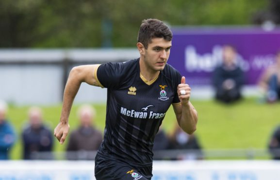 Nikolay Todorov in action for Inverness CT