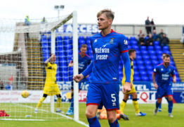 20/07/2019 BETFRED CUP GROUP D INVERNESS CT v RAITH ROVERS TULLOCH CALEDONIAN STADIUM - INVERNESS Inverness' Coll Donaldson celebrates his goal