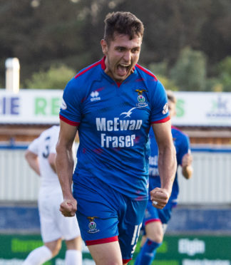 23/07/19 BETFRED CUP: GROUP D INVERNESS CT V COVE RANGERS CALEDONIAN STADIUM - INVERNESS Inverness' Nikolay Todorov celebrates his goal to make it 3-2