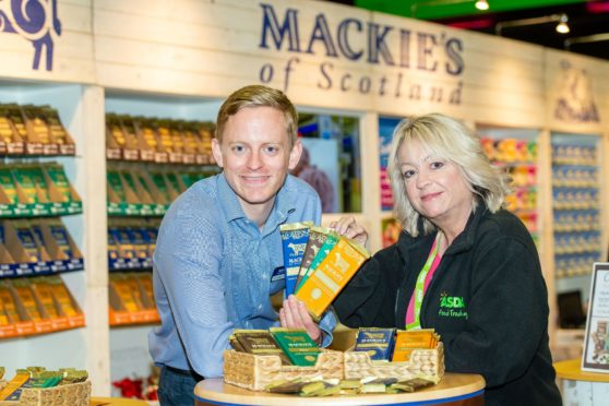 Stuart Common (Mackie's Sales Director) and Yvonne McArthur Asda Buying Assistant