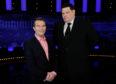 Host Bradley Walsh with Chaser Mark Labbett